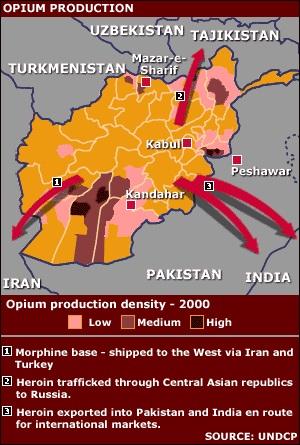 История афганской наркоэкспансии 1990-х