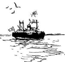 Синее море, белый пароход