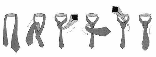 Как завязывать галстук. Полезные советы.
