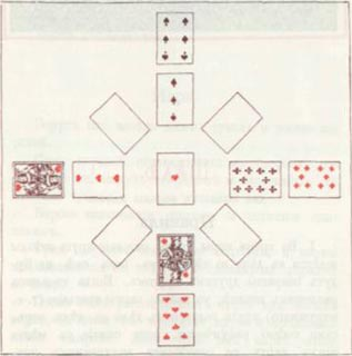 Двадцать четыре основные пасьянса с двадцатью таблицами